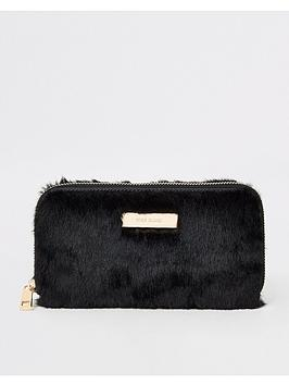 river-island-river-island-faux-fur-ziparound-purse-black