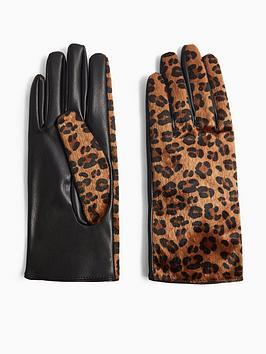 topshop-leopard-print-gloves-leopardblack
