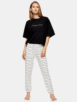 topshop-topshop-sleepy-head-slogan-jersey-pyjama-set-monochrome