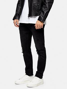 topman-ripped-stretch-skinny-jeans-black