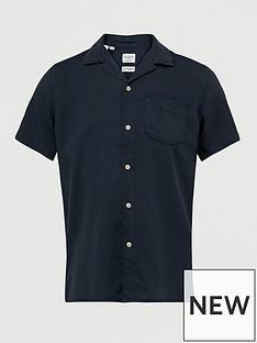 selected-revere-collar-shirt-navy