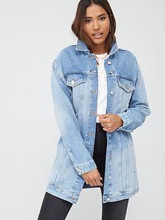 v-by-very-longline-denim-jacket-with-buckles-vintage-wash
