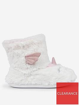 dorothy-perkins-dorothy-perkins-unicorn-bootie-slippers--white