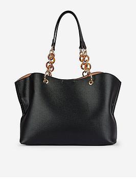 dorothy-perkins-tortoise-handle-tote-bag-black