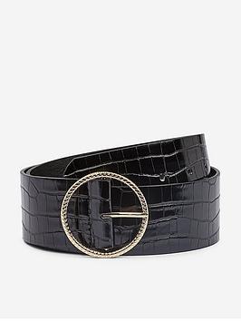 dorothy-perkins-croc-belt-black