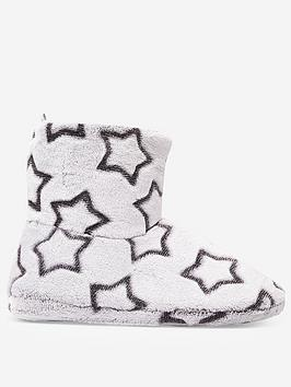 dorothy-perkins-dorothy-perkins-star-clipped-bootie-slippers-grey