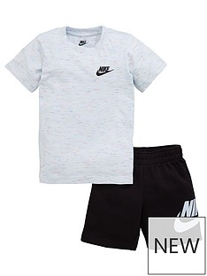 nike-sportswear-younger-boys-french-terry-tee-and-shorts-set-white-black
