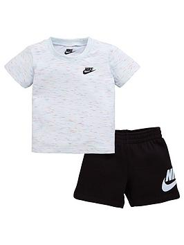 nike-sportswear-infant-boys-french-terry-tee-and-shorts-set-white-black