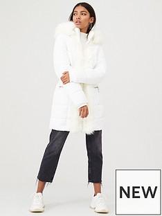 river-island-river-island-faux-fur-front-shine-padded-coat-cream
