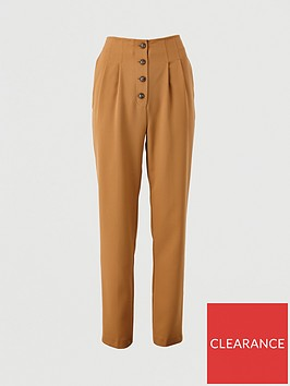 v-by-very-button-front-slim-trousers-camel