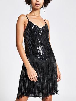 river-island-sequin-fringe-cami-dress-black