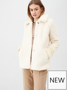river-island-river-island-faux-fur-short-jacket-cream