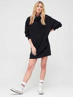 superdry-arizona-funnel-sweat-dress-black