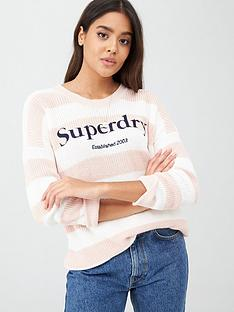 superdry-whittaker-logo-knit-peach