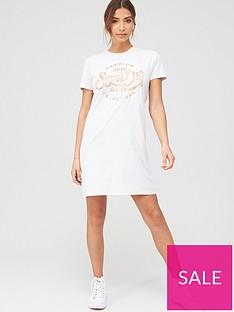 superdry-core-t-shirt-dress-white