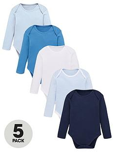 v-by-very-baby-boys-5-pack-long-sleeve-essential-blue-mix-bodysuits-blues