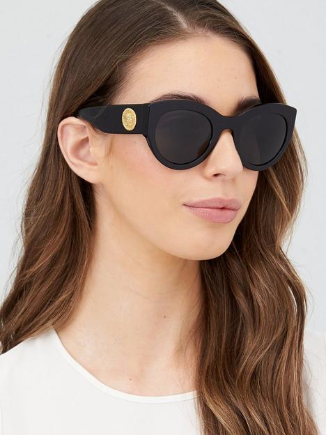 versace-round-sunglasses-black