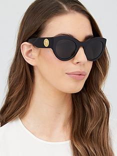 versace-round-sunglasses-black