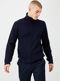 river-island-navy-slim-fit-knitted-roll-neck-jumper