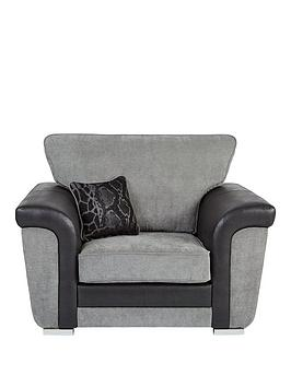 manhattan-fabric-and-faux-snakeskin-armchair