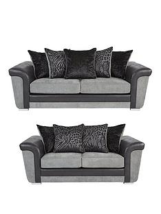 manhattan-fabric-and-faux-snakeskin-scatter-back-3-2-seater-sofa-set-buy-and-save