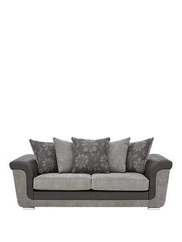 vidal-fabric-and-faux-snakeskin-3-seater-scatter-back-sofa