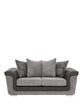 vidal-fabric-and-faux-snakeskin-2-seater-scatter-back-sofa