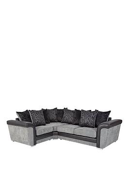 manhattan-fabric-and-faux-snakeskin-left-hand-double-arm-scatter-back-corner-group-sofa