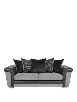manhattan-fabric-and-faux-snakeskin-scatter-back-3-seater-sofa