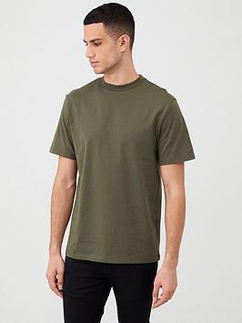 river-island-crew-neck-short-sleeve-t-shirt-khaki
