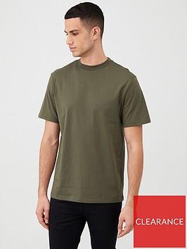 river-island-khaki-crew-neck-short-sleeve-t-shirt