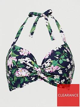 v-by-very-shapewear-twist-front-bikini-top-navy-print