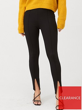 v-by-very-ponte-slit-legging-black