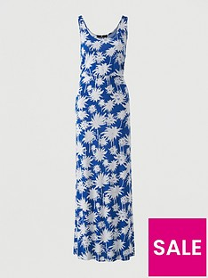 v-by-very-channel-waist-jersey-beach-maxi-dress-blue-print