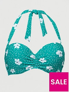 v-by-very-shapewear-underwired-bikini-top-green-floral