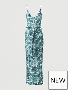 v-by-very-strappy-belted-beach-midi-dress-green-print