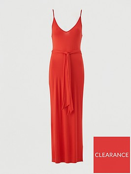 v-by-very-strappy-belted-beach-midi-dress-red
