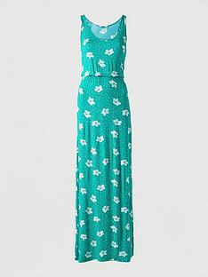 v-by-very-channel-waist-jersey-beach-maxi-dress-green-print