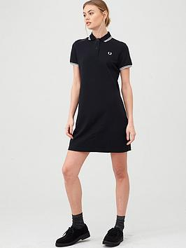 fred-perry-twin-tipped-polo-dress-black