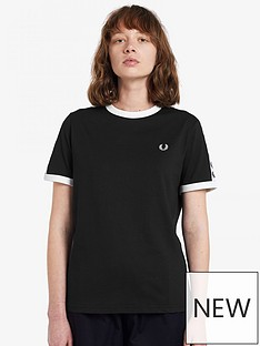 fred-perry-taped-ringer-t-shirt-black
