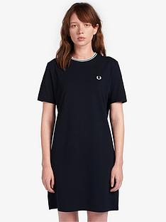 fred-perry-tipped-pique-t-shirt-dress-navy