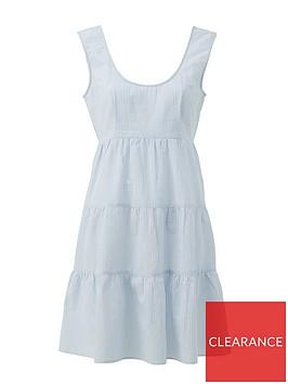 v-by-very-tiered-cotton-sleeveless-mini-beach-dress-stripe