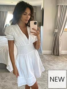 michelle-keegan-lace-insert-cotton-puff-sleeve-mininbspdress-white