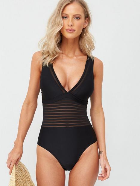 v-by-very-shapewear-mesh-insert-swimsuit-black