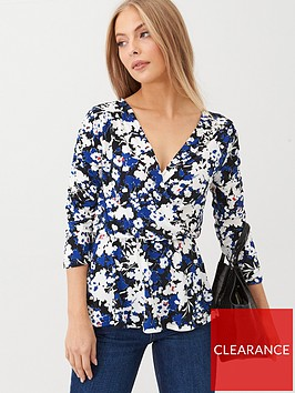 v-by-very-wrap-over-printed-jersey-top-floral