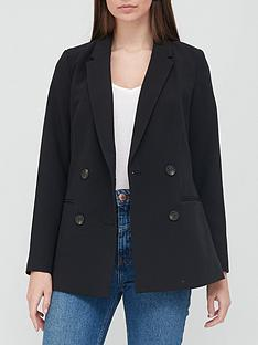 v-by-very-longline-double-breasted-blazer-black
