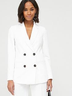 v-by-very-longline-single-breasted-blazer-ivory
