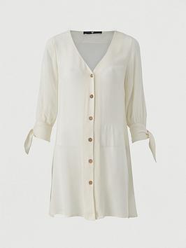 v-by-very-crinkle-tie-sleevenbspshirt-cream