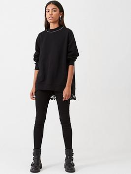 river-island-river-island-diamante-neck-lace-trim-sweatshirt--black