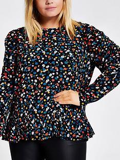 ri-plus-ri-plus-floral-print-puff-sleeve-blouse--black